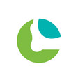 human foot care logo letter c foot logo design vector image