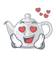 in love porcelain teapot in table a character vector image