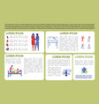 information banner about birth child and care vector image vector image