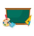 isolated blackboard school design vector image