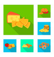 isolated object of taste and seasonin icon set of vector image