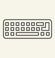 keyboard thin line icon computer keypad vector image