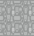 light bulbs seamless pattern with flat line icons vector image vector image