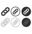 link icon shape sign set hyperlink button round vector image vector image