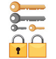locks and keys on white background vector image vector image