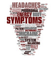 migraine headache treatment text background word vector image vector image