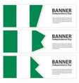nigeria flag banners collection independence day vector image vector image
