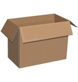 Open cardboard box isolated vector image vector image