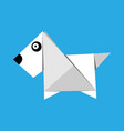 origami paper dog vector image vector image