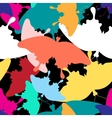 pattern colorful butterflies vector image vector image
