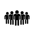 people group or team glyph icon vector image