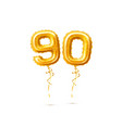 realistic ninety balloons numbers for party vector image