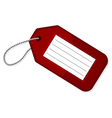 Red luggage tag vector image