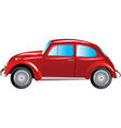 Red retro car isolated on white background vector image