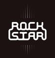 rock star badge - original lettering vector image vector image