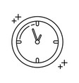 round clock time office line icon style vector image