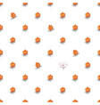 seamless pattern with hand drawn cloudberries vector image vector image