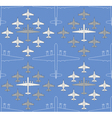 seamless pattern with military airplanes 04 vector image