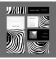 Set of abstract creative business cards zebra vector image vector image