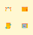 set of wd icons flat style symbols with art vector image vector image