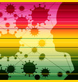silhouette a human head and viruses vector image vector image