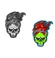 skull tattoos vector image vector image