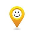 smiley happy location pin vector image