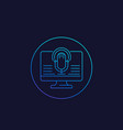 speech recognition icon linear vector image vector image