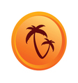 sticker palm orange vector image vector image