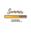 summer loading bar isolated on white background vector image vector image