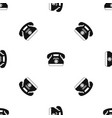 taxi phone pattern seamless black vector image vector image