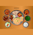 traditional mizorami cuisine and food meal thali vector image vector image