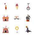 traveling chapiteau circus icons set vector image vector image