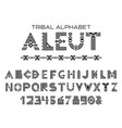tribal aleut alphabet vector image vector image