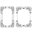 two frame in style modern vector image vector image