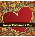 valentine day card with flowers and heart vector image vector image