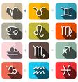 Zodiac - Horoscope Square Icons Set vector image