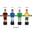 Table football game foosball soccer player set vector image