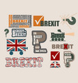 brexit relative design elements vector image