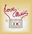 with music cassette vector image