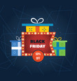black friday discount special offers on shopping vector image