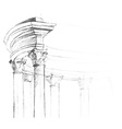 architectural element for your design vector image vector image