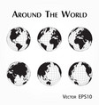 around world vector image vector image