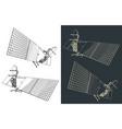 artificial satellite vector image