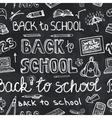 Back to School Supplies Sketchy chalkboard vector image vector image