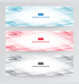 banner web template abstract modern blue vector image