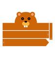 beaver headband vector image vector image