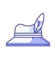 birdwatcher straw hat icon vector image vector image