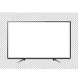 black led television screen blank on background vector image vector image