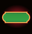 brightly theater glowing poker table neon vector image